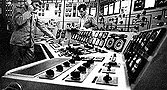 Reactor control room aboard the NS Otto Hahn - click for larger image
